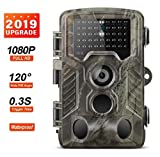 Excelvan Caméra de Chasse Caméra Capture 16MP 1080P Caméra Infrarouge pour Caméra de Vision Nocturne 20M/65FT avec 2.0' Écran LCD Imperméable IP66 Vert