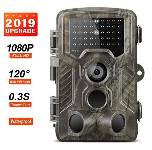 """EXCELVAN Caméra de Chasse Caméra Capture 16MP 1080P Caméra Infrarouge pour Caméra de Vision Nocturne 20M/65FT avec 2.0"""" Écran LCD Imperméable IP66 Vert"""