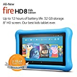 All-New Fire HD 8 Kids Edition Tablet, 8 Display, 32 GB, Blue Kid-Proof Case