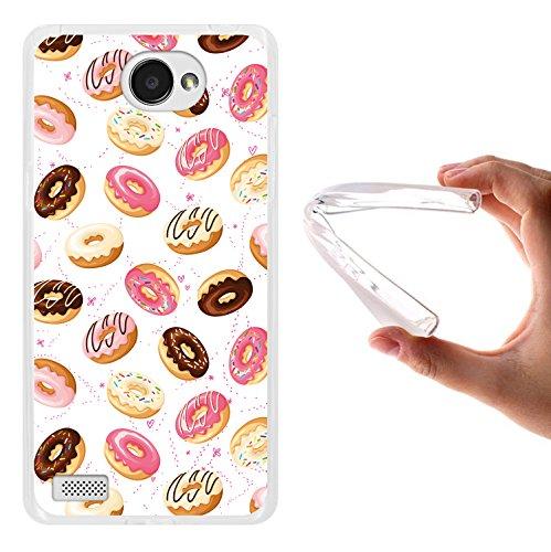 WoowCase LG X150 Bello 2 Hülle, Handyhülle Silikon für [ LG X150 Bello 2 ] Donuts Handytasche Handy Cover Case Schutzhülle Flexible TPU - Transparent