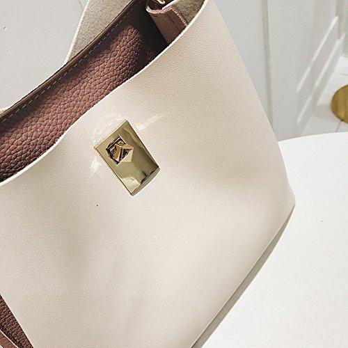 Borse Donna, Borse in PU Pelle Borse Firmate Polso Con tracolla regolabile Pink Bianco