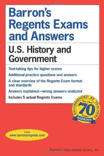 U.S. History and Government [Barron's Regents Exams and Answers] by Resnick [Barron's Educational Series.2012] [Paperback]