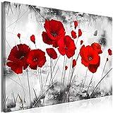 decomonkey | Mega XXXL Bilder Mohnblumen | Wandbild Leinwand 170x85 cm Einteiliger XXL Kunstdruck zum aufhängen | Blumen Natur