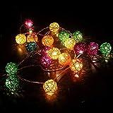 TurnRaise 4.8 Metros 20Leds de luz cadena Iluminación Cadena de Luces Solar Luces Decorativas Lámpara Para Decoración Navidad, Fiesta, Partido (multi color)