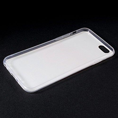 """[A4E] Handyhülle passend für Apple iPhone 6 (4,7"""") aus TPU Silikon, mit süssem Eulen Muster in (grün, weiß, schwarz) be happy -Sonnenuntergang"""