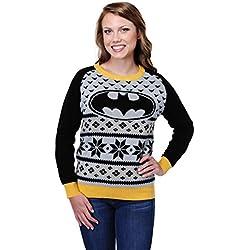 Batman Women's Ugly Christmas Sweater Medium