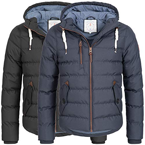 Azuonda Winter Jacke Herren Parka Winterjacke warm gefüttert Kapuze 2-Farben S-XXL Az104