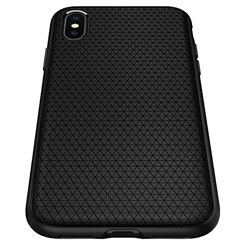 Spigen Liquid Air, iPhone XS Max Hülle, Stylisch Muster Design Handyhülle mit Luftpolster Air Cushion Technologie Silikon Schutzhülle Case für iPhone XS Max (6.5 Zoll) 2018 (Schwarz) 065CS25126 Air Max Iphone