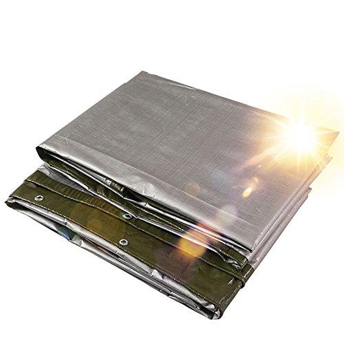 XUEYAN La bâche résistante imperméable à la Pluie de bâche de Sol de bâche Couvre la Remise épissure de Protection en Tissu de Protection Solaire de Vent Pique-Nique Mat-Vert 180 G/M²