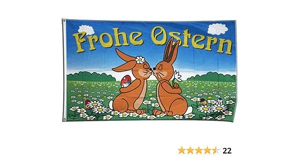Flagge Frohe Ostern 5 90 X 150 Cm Sport Freizeit