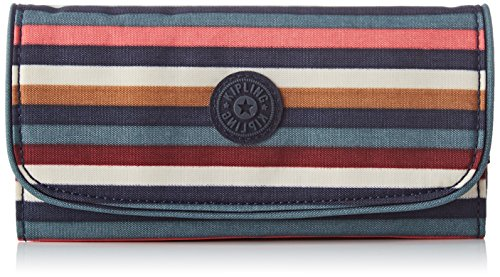 Kipling Damen SUPERMONEY Geldbörse, Mehrfarbig (Multi Stripes), 20x10x3 cm -