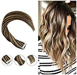 Hetto Remi Extensions Cheveux Femme 14inch Vrai Cheveux Humain Tape in Adhesive Full...