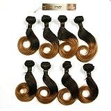 BLISSHAIR Lot de 8 brésiliens Virgin Hair Tout droit 20,3 cm court cheveux cheveux...