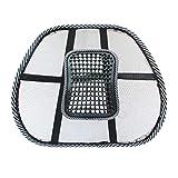 Sedia Massaggio Schienale Supporto Lombare Mesh Ventilato Cuscino Cuscino Seggiolino per Auto Massaggio Relax per Il Supporto del Massaggio in Auto, in Ufficio o in casa