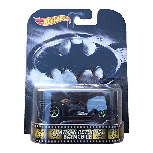 Batman Returns Batmobile Hot Wheels 2015 Retro Series 1/64 Die Cast Vehicle by Hot Wheels