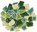 Flip Keramik Mini Mosaik Fliesen–Grün-Mix 100g