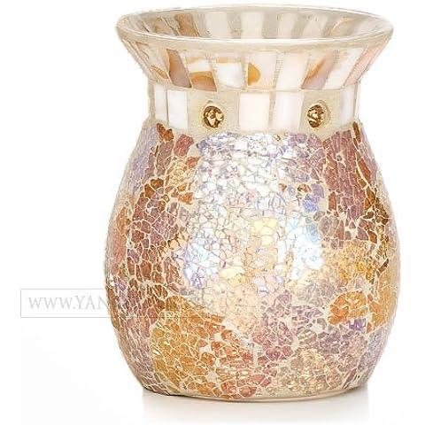 Yankee candle Gold & Pearl Bruciatore per Tart, Vetro, Multicolore, 11.6x11.3x14.7 cm