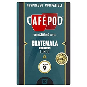 Find CafePod Guatemala Pack Of 10 Nespresso Compatible Coffee Capsules from CafePod