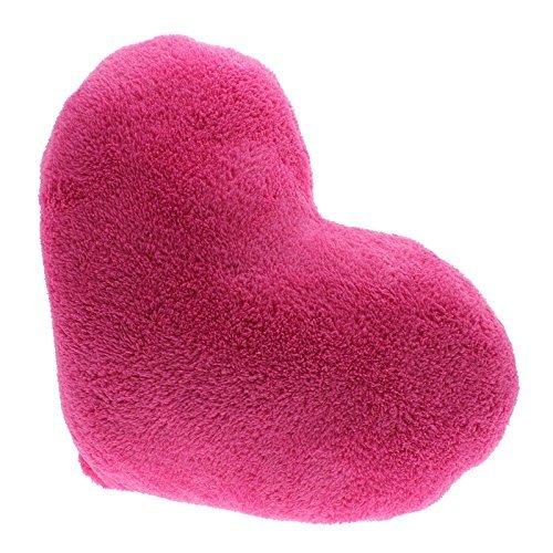 Arpoador 1x suave Love bloque de manta almohadas cojines de peluche forma de corazón regalos (rosa)