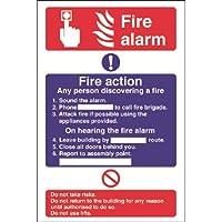 Feueralarm / Fire Action Abmessungen: 300 x 200mm. Starre. preisvergleich bei billige-tabletten.eu
