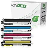 4 Kineco Toner kompatibel zu HP CF350A CF351A CF352A CF353A Color Laserjet Pro MFP M176n, M177fw, M170 Series - Schwarz 1.300 Seiten, Color je 1.000 Seiten