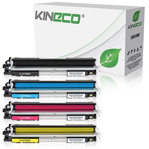 Preisvergleich Produktbild 4 Kineco Toner kompatibel zu HP CF350A CF351A CF352A CF353A Color LaserJet Pro MFP M176n, M177fw, M170 Series - Schwarz 1.300 Seiten, Color je 1.000 Seiten