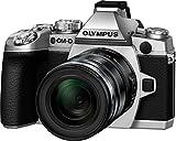 Olympus E-M1 OM-D Systemkamera (16 Megapixel, 7,6 cm (3 Zoll) TFT LCD-Display, Full HD, HDR, 5-Achsen Bildstabilisator) inkl. M.Zuiko Digital ED 12-50mm Objektiv Kit silber