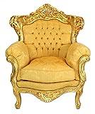 Casa Padrino Barock Wohnzimmer Set Gold Bouquet Muster / Gold – 3er Sofa + 2 Sessel - 2