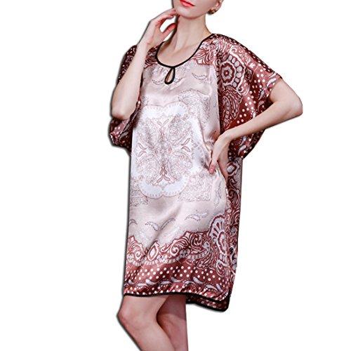 KAXIDY Femme Chemises de Nuit Vêtement de nuit Peignoir de bain Robe de chambre Pyjamas Peignoirs Marron