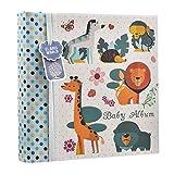 Album photo pour bébé garçon Bleu 10 x 15 cm pour 200 photos – Animaux des bois – Cadeau idéal