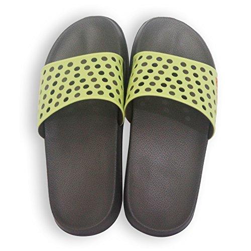 DogHaccd pantofole,Pantofole donne indoor estate anti-bagno Slip maschio, è esposta una 3-rimanere morbido di un paio di pantofole fresco Nero4