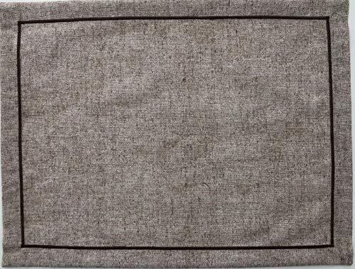 1kdreams tovaglietta americana in cotone. set di 2 tovagliette. elegante tessuto in tinta unita. made in italy. (beige, 50x40 cm)