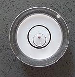 Livelle sferiche ad alcol bolla in acrilico con sfera guida in metallo, Bianco / Livella a bolla piccola, custodia in acrilico, livella per superfici, centro bersaglio fiala tonda