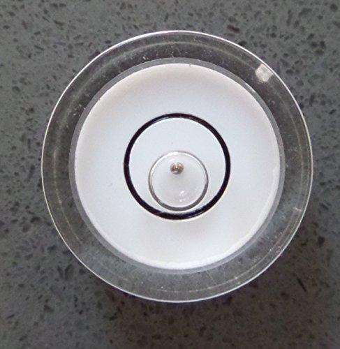 Profi-Wasserwaagen Libellen mit einer Metallkugel im Gehäuse Anleitung, Dosenlibelle, 15mm Durchmesser /kleine Libelle, Mini-Bullauge, Boden-Wasserwaage, kreisrund