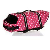 Kathy Lee 's Shop Dog Life Jacke mit Reflektierende Gurte und Rescue Griff, Freeride Weste, PET reflektierend Hunde-Rettungsweste