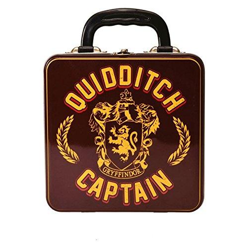 Harry Potter Quidditch Captain Brotdose aus Metall - Gryffindor Quidditch Captain Brotbox Harry Potter Vesperdose Zauberei