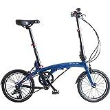 Dahon Eezz D3, Bicicleta Plegable Unisex Adulto, Azul Oscuro, 16 Pulgadas