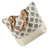 LaFiore24 Shopper Einkaufstasche Damen Umhängetasche Baum Strandtasche...