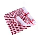 Tinksky Herren Muslim Hijab Kopftuch Schal Arabisch Turban Kopfbedeckungen (Rot)