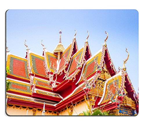 MSD Natural Rubber Mousepad IMAGE ID: 35276786 Buddhist temple in island koh Samui Thailand