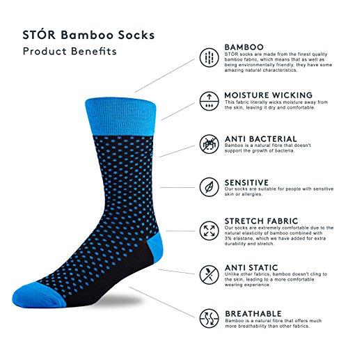 3 Pairs of Super Soft Natural Bamboo Socks UK 7-11 EU 40-45 Red Stripe