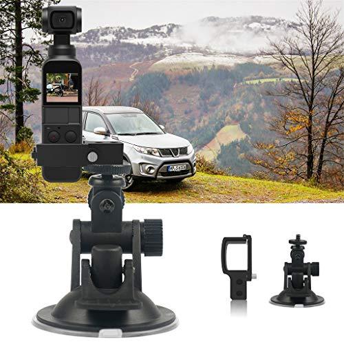 99native 360 ° Windschutzscheiben Saughalterung Fix Bracket Desktop Ständer für DJI OSMO Pocket für Kameras, Camcorder, Smartphone (Black)