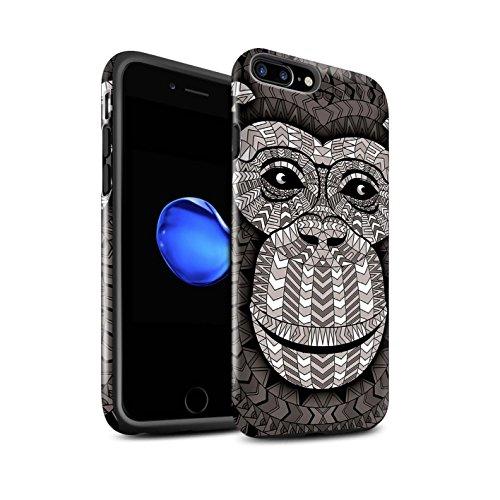 Coque Brillant Robuste Antichoc de STUFF4 / Coque pour Apple iPhone 5/5S / Singe-Couleur Design / Motif Animaux Aztec Collection Singe-Mono