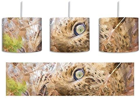 Leopard Pinsel Effekt inkl. Lampenfassung E27, Lampe mit Motivdruck, tolle