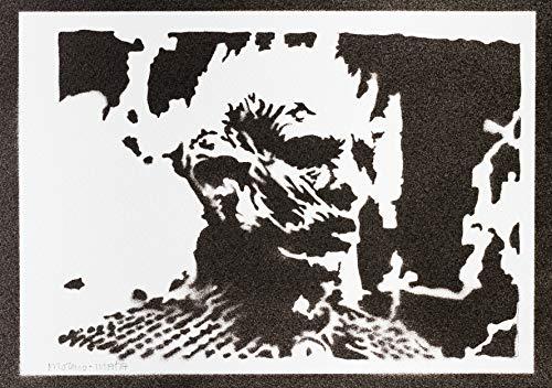 Die Nachtkönig Weißen Wanderer Game Of Thrones Poster Plakat Handmade Graffiti Sreet Art - - Ferienhaus Kostüm
