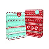 12x Large 'Christmas' Gift Bags- Many Designs Available- 32cm x 26cm x 13cm (12x Design 3 (8674))