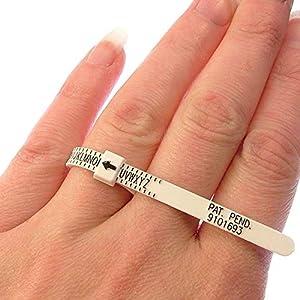 Fingergrößenmesser, Natur (A-Z UK-Größen) für Männer, Frauen und Kinder, kariert Ringgröße