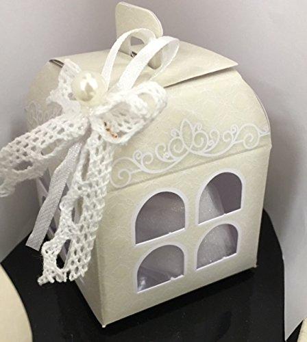 Stock 20 pezzi design wedding matrimonio scatola scatolina portaconfetti lanterna finestarata decorazioni esclusione bomboniera