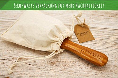 Bambus Haarbürste ✮ Zero Waste ✮ Plastikfrei ✮ 100% Vegan ✮ Nachhaltig ✮ Naturborsten aus Bambus ✮ Antistatisch ECOMONKEY® - 4