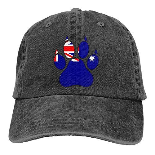 Mbefore Baseball Cap für Herren und Damen, Australien Flagge Dog Paw Classic Cotton